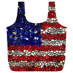 American Flag Mosaic Reusable Bag (XL)