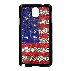 American Flag Mosaic Samsung Galaxy Note 3 Neo Hardshell Case (Black)