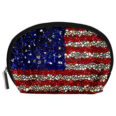 American Flag Mosaic Accessory Pouch (large)