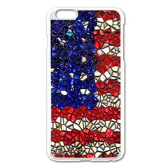 American Flag Mosaic Apple iPhone 6 Plus Enamel White Case