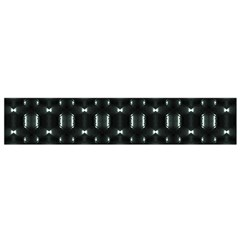 Futuristic Dark Hexagonal Grid Pattern Design Flano Scarf (small)