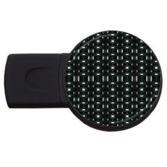 Futuristic Dark Hexagonal Grid Pattern Design 2gb Usb Flash Drive (round)