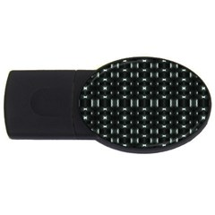 Futuristic Dark Hexagonal Grid Pattern Design 2gb Usb Flash Drive (oval)