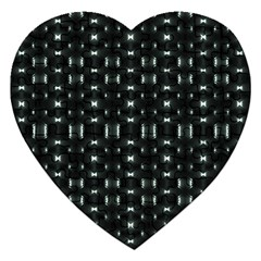 Futuristic Dark Hexagonal Grid Pattern Design Jigsaw Puzzle (heart)