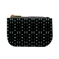 Futuristic Dark Hexagonal Grid Pattern Design Coin Change Purse