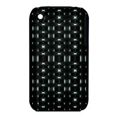 Futuristic Dark Hexagonal Grid Pattern Design Apple Iphone 3g/3gs Hardshell Case (pc+silicone)