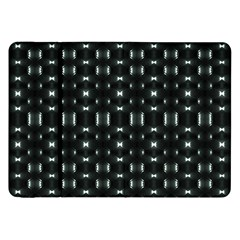 Futuristic Dark Hexagonal Grid Pattern Design Samsung Galaxy Tab 8.9  P7300 Flip Case