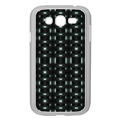 Futuristic Dark Hexagonal Grid Pattern Design Samsung Galaxy Grand Duos I9082 Case (white)