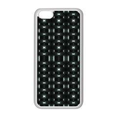 Futuristic Dark Hexagonal Grid Pattern Design Apple Iphone 5c Seamless Case (white)