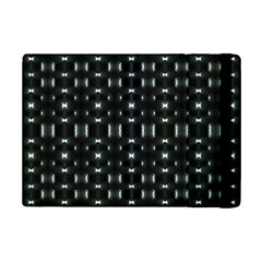 Futuristic Dark Hexagonal Grid Pattern Design Apple Ipad Mini 2 Flip Case