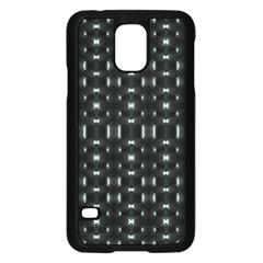 Futuristic Dark Hexagonal Grid Pattern Design Samsung Galaxy S5 Case (Black)