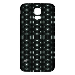 Futuristic Dark Hexagonal Grid Pattern Design Samsung Galaxy S5 Back Case (white)