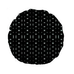 Futuristic Dark Hexagonal Grid Pattern Design 15  Premium Flano Round Cushion