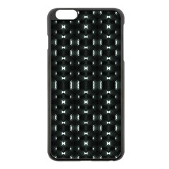 Futuristic Dark Hexagonal Grid Pattern Design Apple iPhone 6 Plus Black Enamel Case