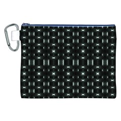 Futuristic Dark Hexagonal Grid Pattern Design Canvas Cosmetic Bag (xxl)