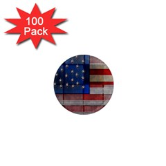 American Flag Quilt 1  Mini Button Magnet (100 Pack)