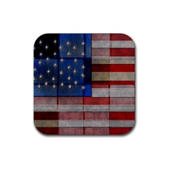 American Flag Quilt Drink Coasters 4 Pack (square)