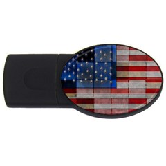 American Flag Quilt 4gb Usb Flash Drive (oval)