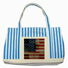 American Flag Quilt Blue Striped Tote Bag
