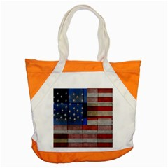 American Flag Quilt Accent Tote Bag