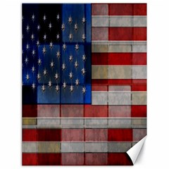 American Flag Quilt Canvas 18  X 24  (unframed)