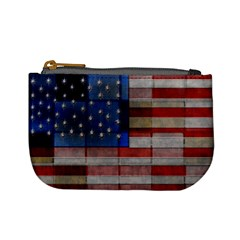 American Flag Quilt Coin Change Purse