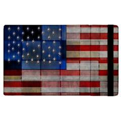 American Flag Quilt Apple Ipad 3/4 Flip Case