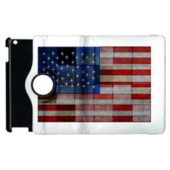 American Flag Quilt Apple iPad 2 Flip 360 Case