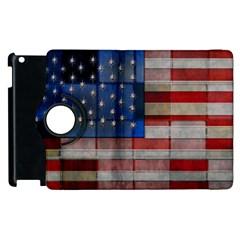 American Flag Quilt Apple Ipad 3/4 Flip 360 Case