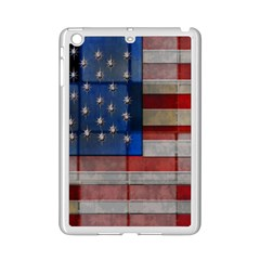 American Flag Quilt Apple iPad Mini 2 Case (White)