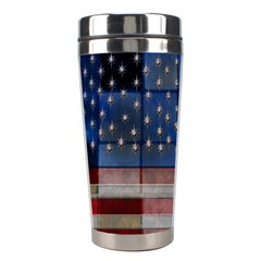 American Flag Quilt Stainless Steel Travel Tumbler