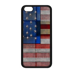 American Flag Quilt Apple iPhone 5C Seamless Case (Black)