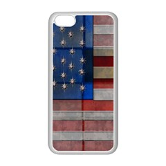 American Flag Quilt Apple iPhone 5C Seamless Case (White)