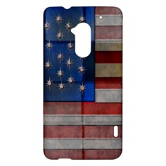 American Flag Quilt HTC One Max (T6) Hardshell Case