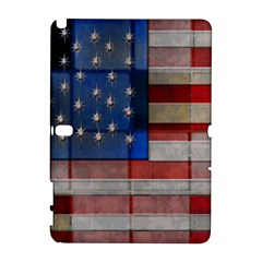 American Flag Quilt Samsung Galaxy Note 10.1 (P600) Hardshell Case