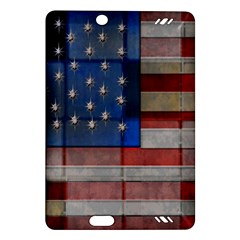 American Flag Quilt Kindle Fire HD (2013) Hardshell Case