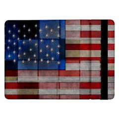American Flag Quilt Samsung Galaxy Tab Pro 12 2  Flip Case