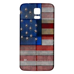 American Flag Quilt Samsung Galaxy S5 Back Case (White)