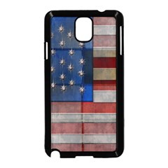 American Flag Quilt Samsung Galaxy Note 3 Neo Hardshell Case (Black)
