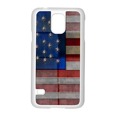 American Flag Quilt Samsung Galaxy S5 Case (white)