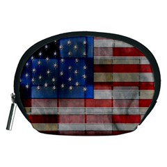 American Flag Quilt Accessory Pouch (Medium)