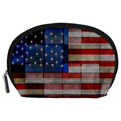 American Flag Quilt Accessory Pouch (Large)