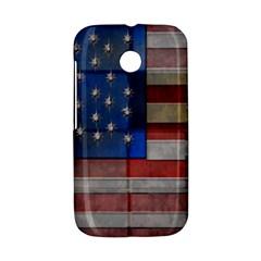 American Flag Quilt Motorola Moto E Hardshell Case