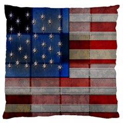 American Flag Quilt Large Flano Cushion Case (One Side)