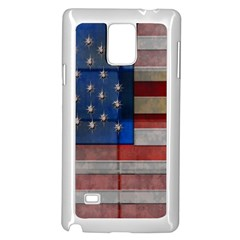 American Flag Quilt Samsung Galaxy Note 4 Case (White)