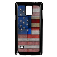 American Flag Quilt Samsung Galaxy Note 4 Case (black)