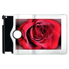 An Open Rose Apple iPad 2 Flip 360 Case