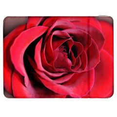 An Open Rose Samsung Galaxy Tab 7  P1000 Flip Case