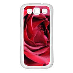 An Open Rose Samsung Galaxy S3 Back Case (white)