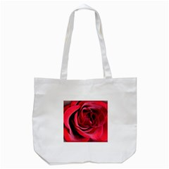 An Open Rose Tote Bag (White)